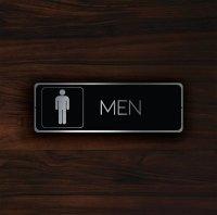 MODERN MENS RESTROOM Door Sign