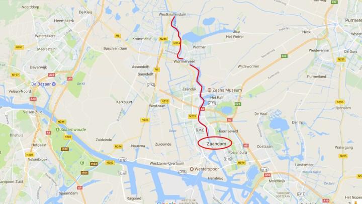 De Zaan tussen West-Knollendam en Zaandam - De Canicula