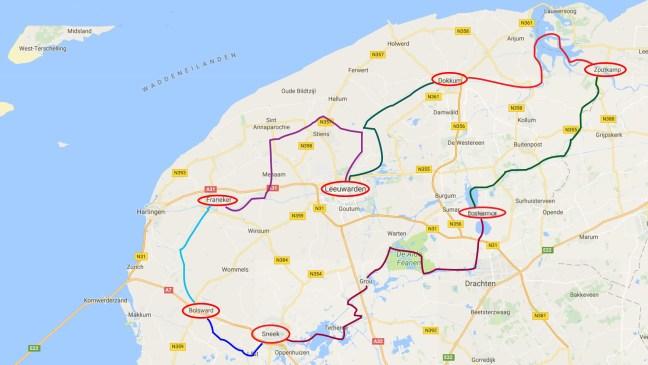 Varen met de Canicula - Vaarroute Rondje Noord Friesland van Sneek naar Franeker