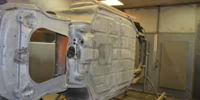 décapage chassis porsche par Décap'Soft