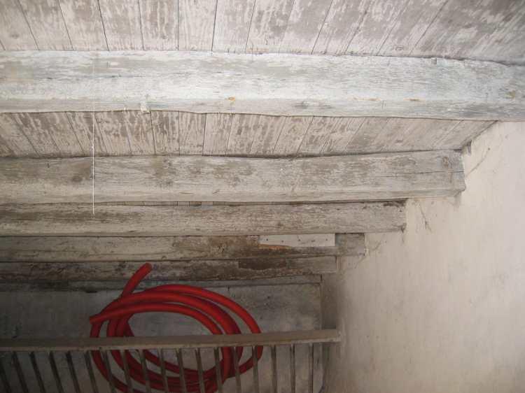 decapage aerogommage Poutres et plafond chaulé