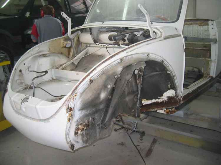 Volkswagen Cox cabriolet blanche - 03