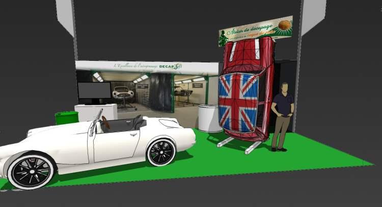 Modélisation du stand Décap'Soft à Rétromobile 2020
