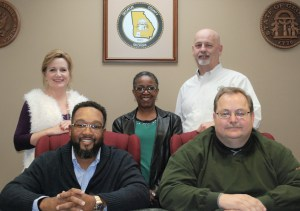 From the left, front row, Vice Chairman Willie Lamb Jr. and Chairman Wendell Cofer; back row, Board Members Gina Burke, Beverly Holmes and Keith Sellars.