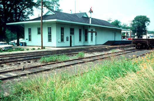 The Decatur Depot, prior to its relocation and restoration.