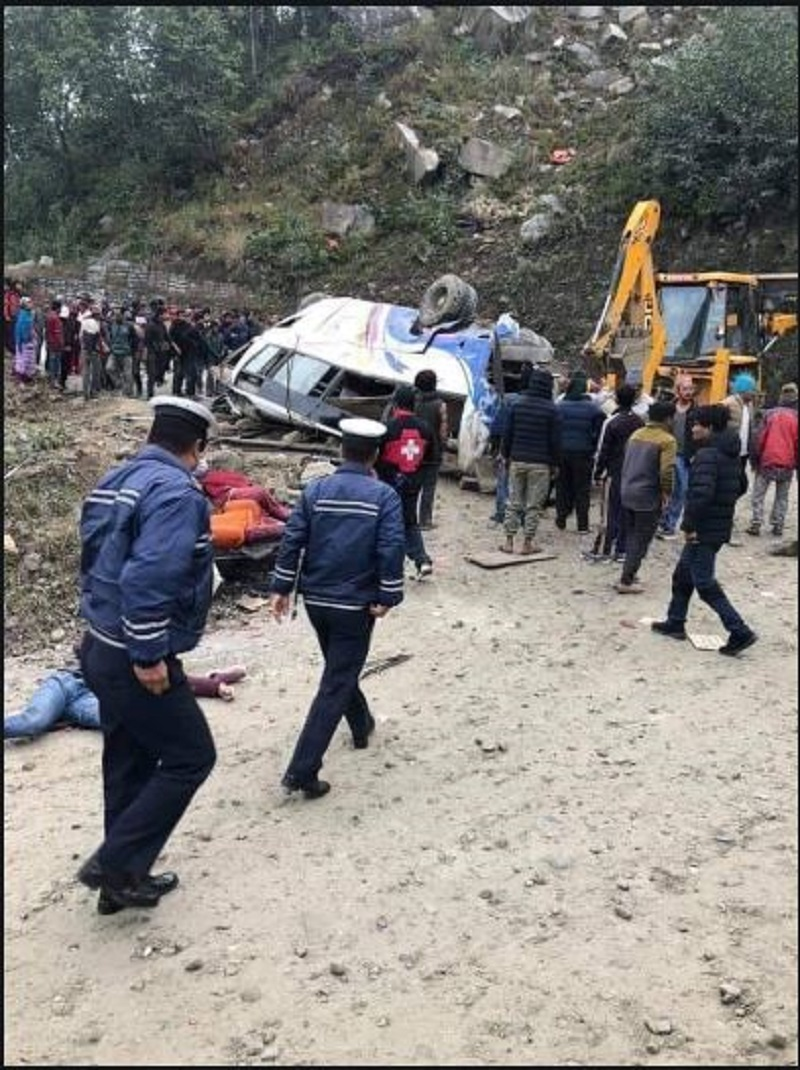 14 killed, 18 injured after bus veers off road in Nepal | Deccan ...