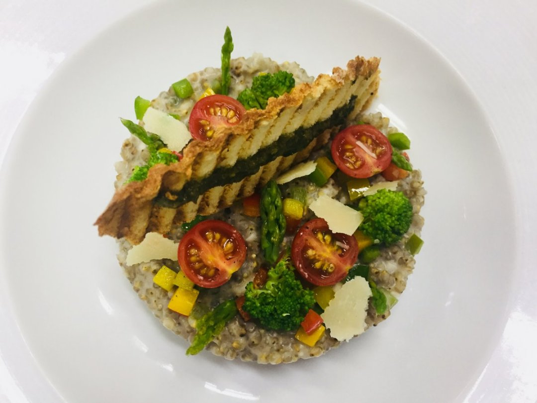 Pearl millet risotto