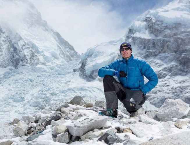 Image result for Australian climber Steve Plain scaled Everest 117 days after beginning his mission in Antarctica.