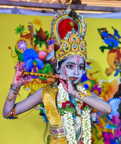 city turns colourful for