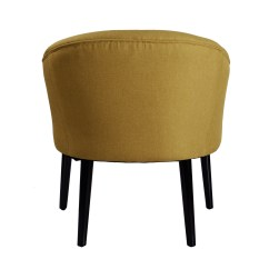 Yellow Club Chair Banquet Covers Wholesale Decenthome Tufted Fabric