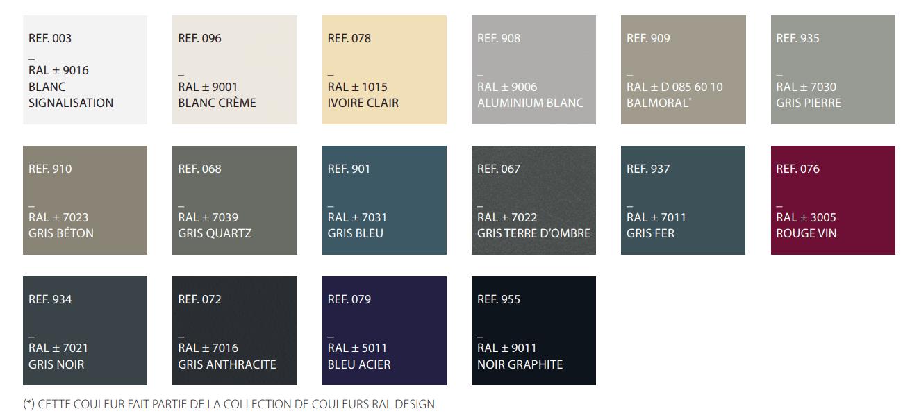 collection couleur 2019 2020 deceuninck