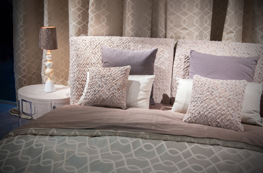 double bed  textile