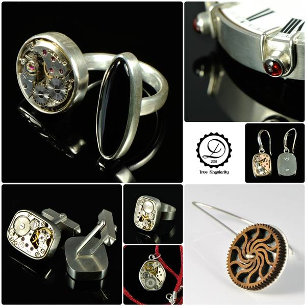 Machinarium Collection by Decimononic - Art jewelry with vintage watch movements