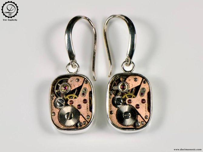 Decimononic - Supra earrings   Sterling silver Steampunk earrings