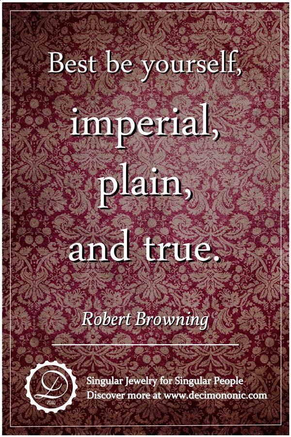 Decimononic - Words of Singularity - Robert Browning
