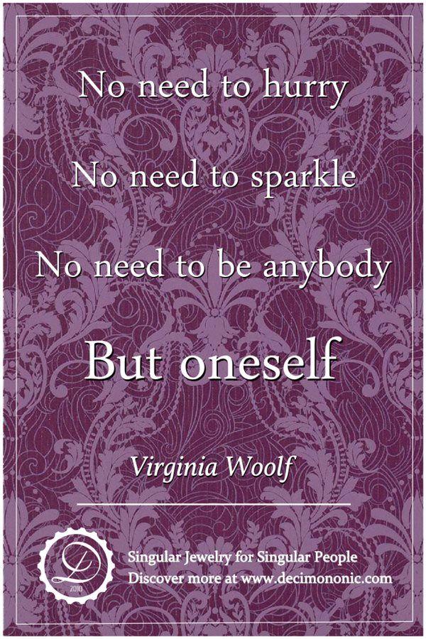 Decimononic - Words of Singularity - Virginia Woolf