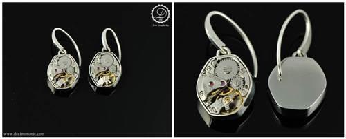 Gamma Earrings | Steampunk earrings by Decimononi</a srcset=