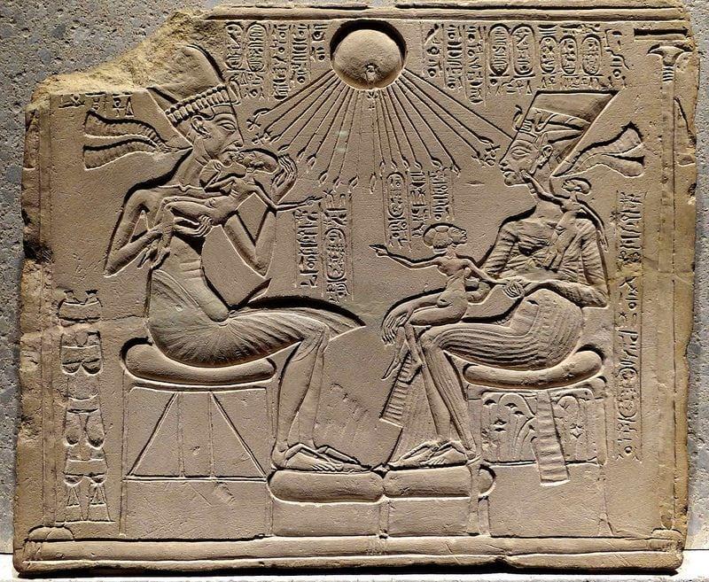 Egypt - Rays of light diagram