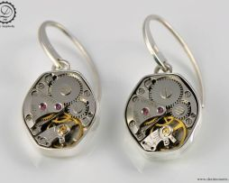 Gamma Earrings | Steampunk earrings by Decimononic