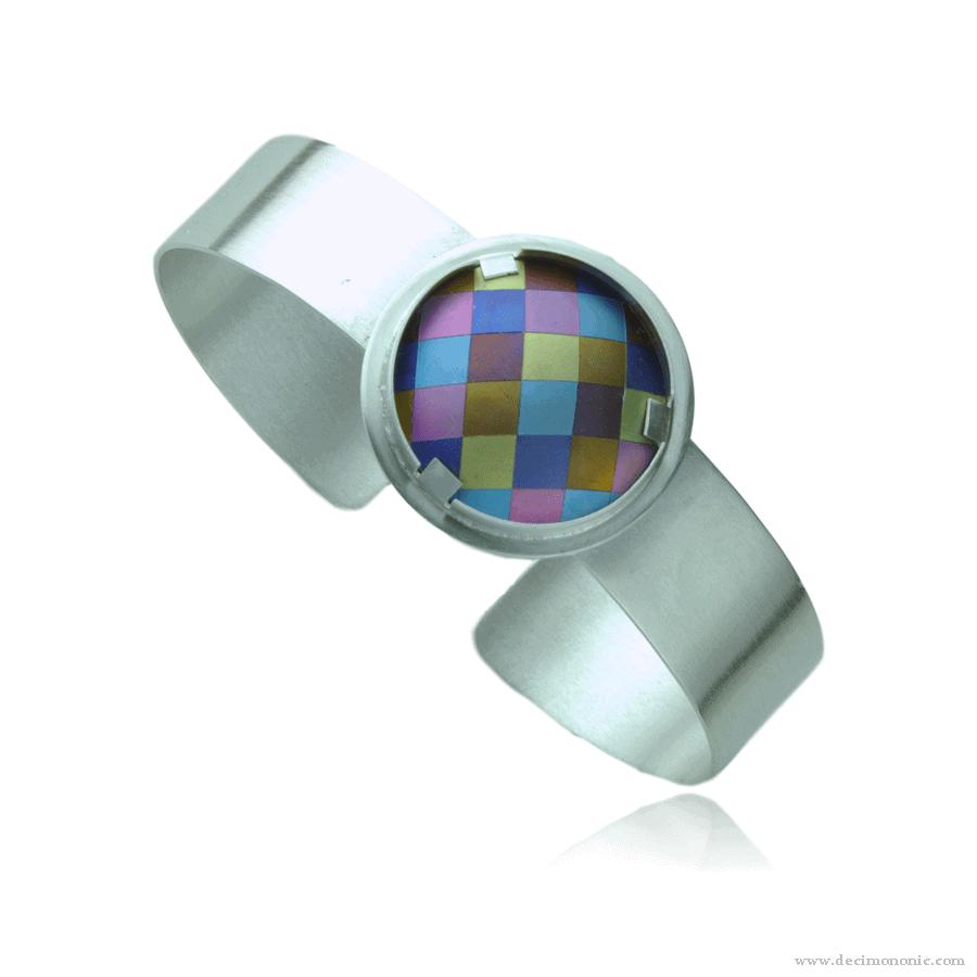Emilie flöge tribute - Sterling silver and anodized titanium cuff by Decimononic