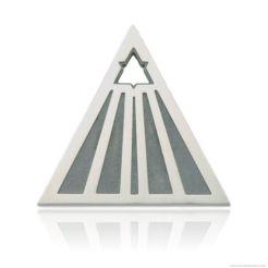 Non Omnis Moriar - Sterling silver planchette pendant by Decimononic