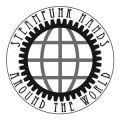 Steampunk hands around the world - logo by Stefan Holzhauer