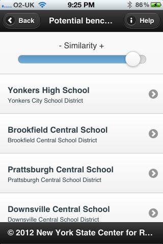 SchoolBenchmarker screenshot