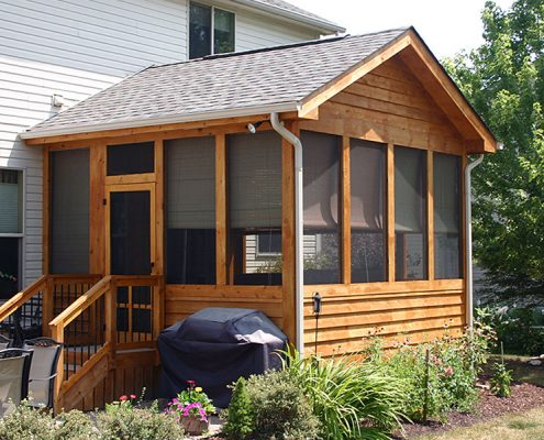 living room package modern set screened porch build services – deck masters of columbus