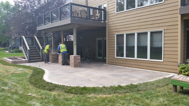 Double Decks, Under Deck System, and New Stone Patio