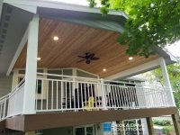 Timbertech with New Deck Roof and Cedar Carsiding | Deck ...