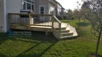 Treated Deck Open to Backyard | Des Moines Deck Builder ...
