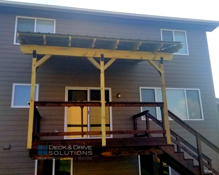Metal Roof Over Deck Deck And Drive Solutions Iowa