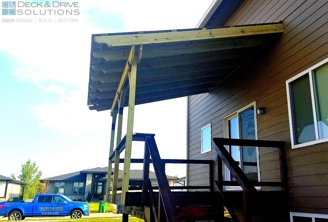 Metal Roof Over Deck Des Moines Deck Builder Deck And