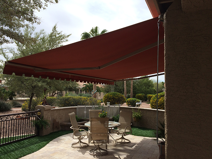 retractable awnings sunrooms