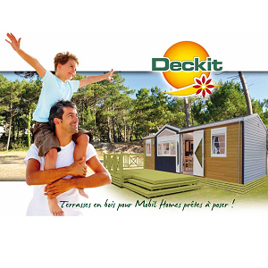 Image terrasse mobil home - Catalogue deckit
