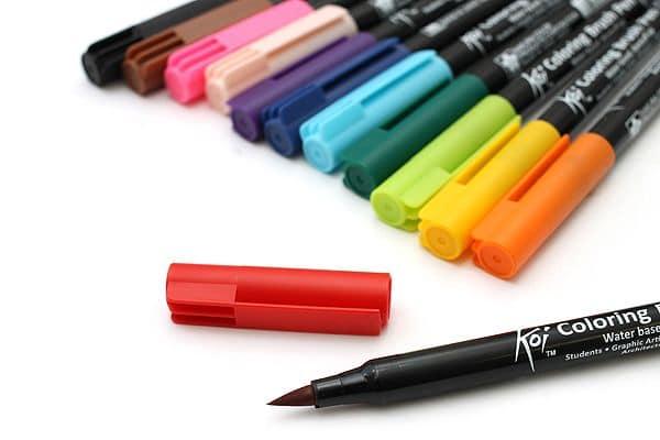 koi coloring brush pen