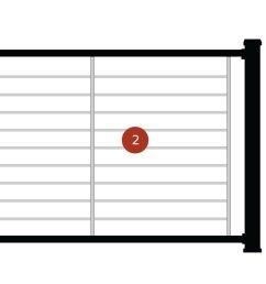 diagram of steps installing trex signature rod rail [ 1200 x 675 Pixel ]
