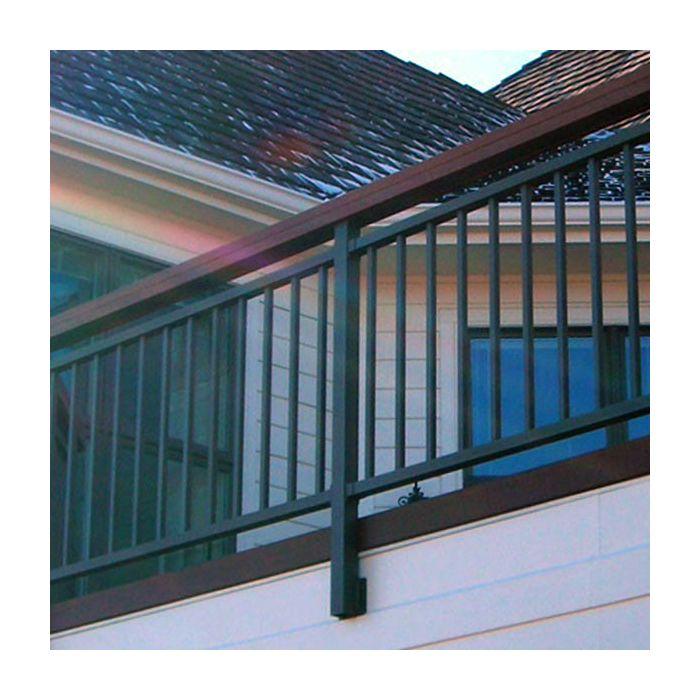 riviera fascia post with bracket by westbury aluminum railing