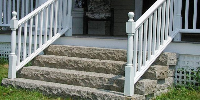 build a handrail for concrete stairs