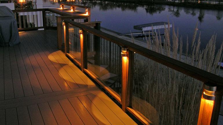 led deck rail lighting decksdirect