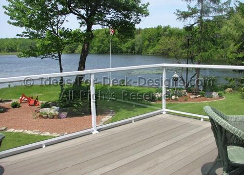 glass deck railing choose wood or