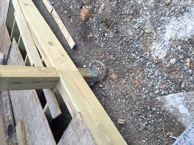 Porch Footings And Position Of Support Post Bracket