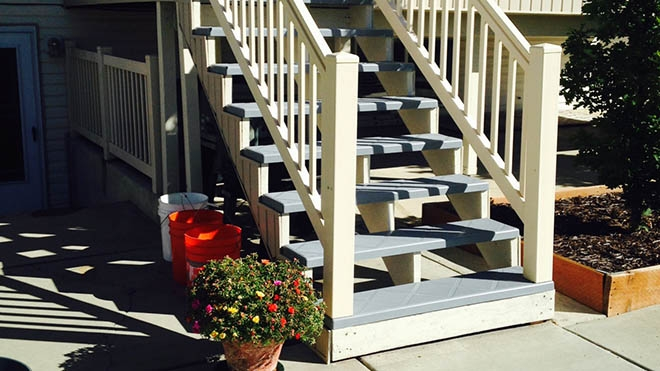 Stair Tread Covers For Safe Long Lasting Treads | Outdoor Wood Stair Treads | Riser | Heavy Timber | Wood Beam | External | Step