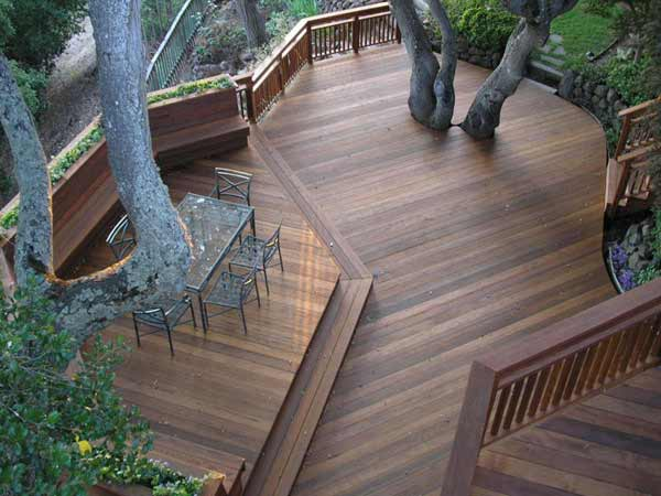darker color deck stains will last