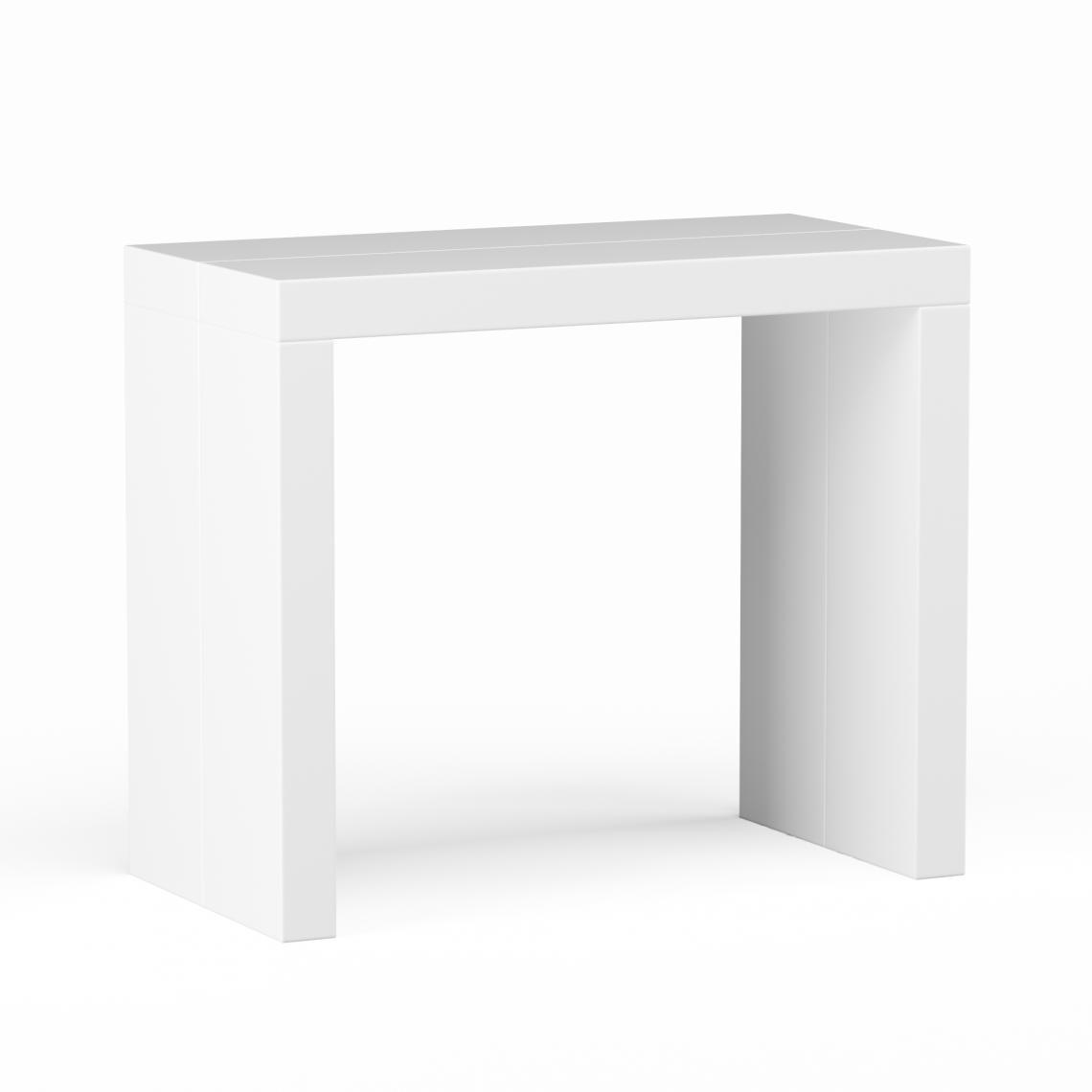 console extensible 225cm blanc laque line white