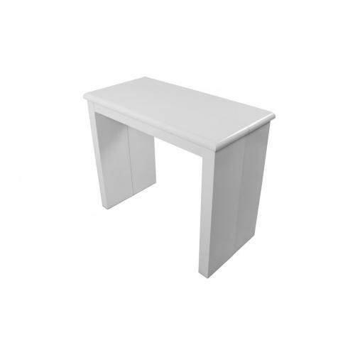 console extensible 195cm blanc laque line white