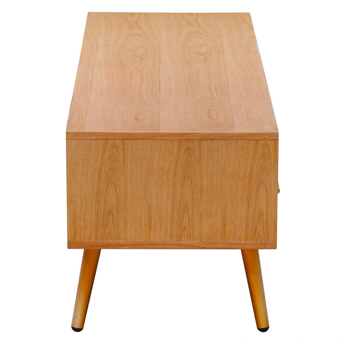 meuble tv en bois clair avec 1 tiroir et 2 etageres bridget
