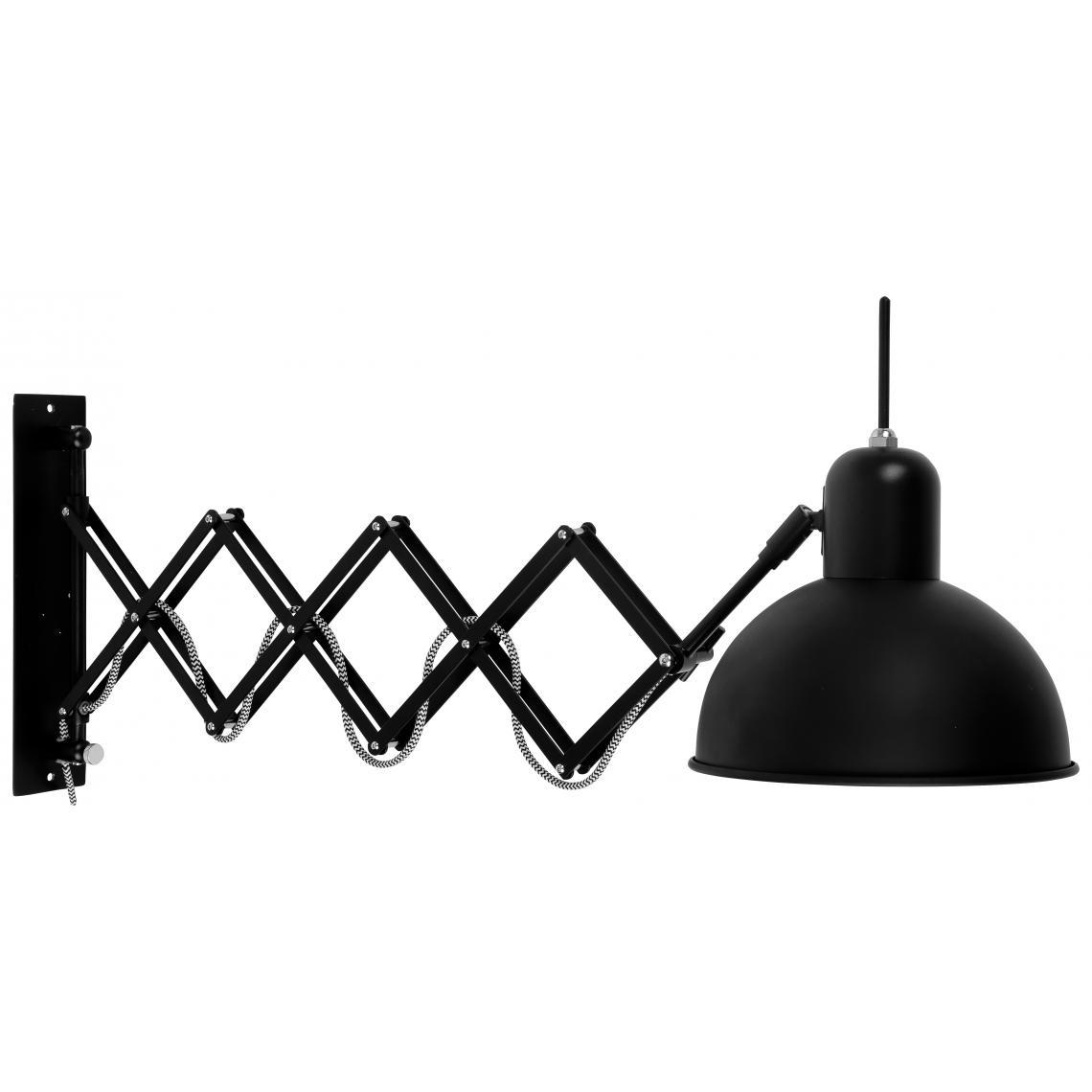 applique murale orientable metal noir aberdeen