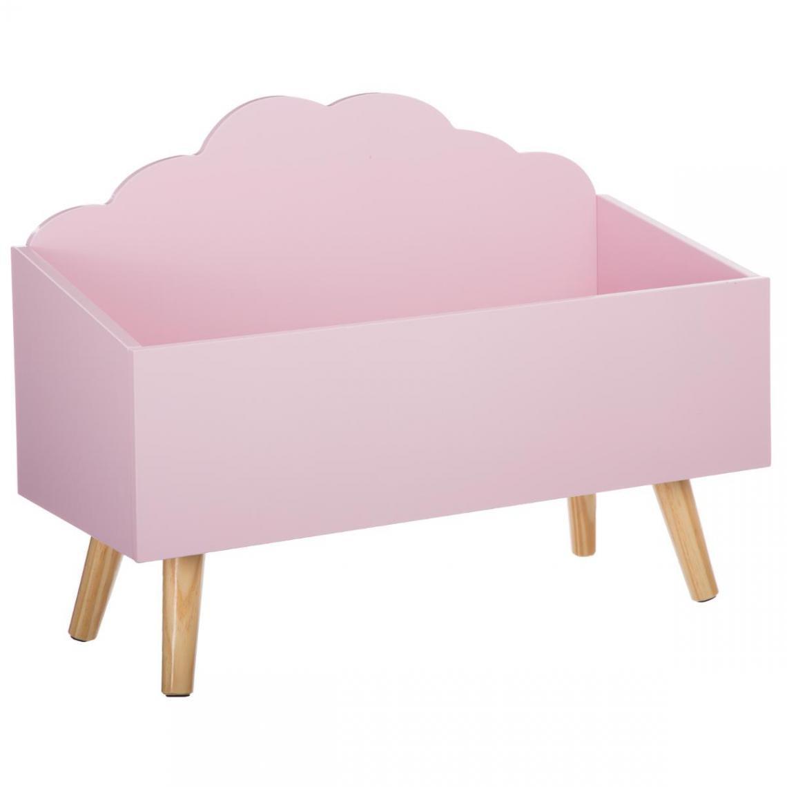 coffre a jouet nuage rose cloud