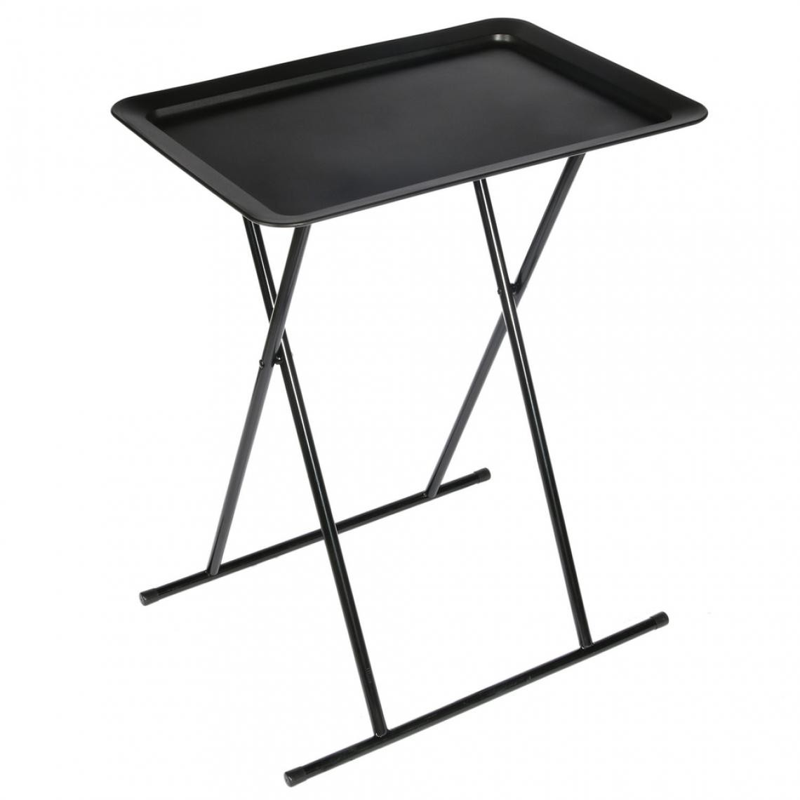 table d appoint pliable noire simply